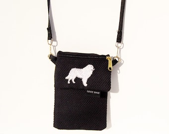 Great Pyrenees Dog Large Cell Phone Case with a Coin Purse, 2 Piece Set