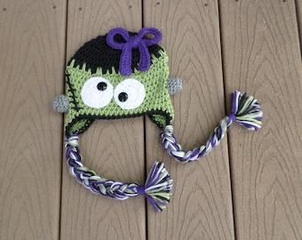 Little Green Monster hat girls