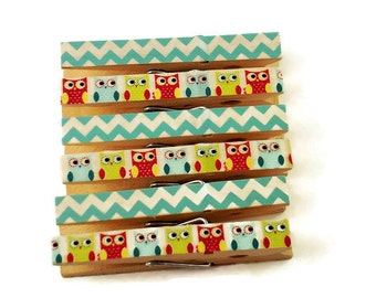 Decorative Clothespins Altered Clothespins Magnetic Clothespins in Baby Owls