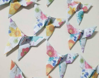 36 Rainbow Bouquet Origami Butterflies