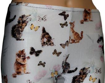 Men's Cats and Butterflies Leggings, Printed Leggings, Printed Leggings, Yoga Pants, Running Pants, Animal Print Leggings
