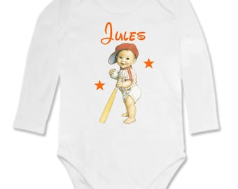 Personalized with name Baseball Bodysuit