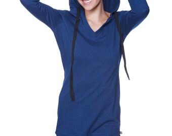 Women's Long Body Hoodie Top ()
