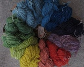 Naturally dyed, hand spun...