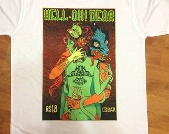 Customised Psychedelic surreal dragon tshirt