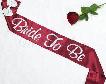 Glitters Bride to Be (Maroon) Sash // Hen's Party // Bachelorette Party // Hen's Party Sash // Bridal Shower// Bride to Be// Photo shoot
