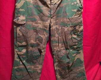 Vietnam War 1960's U.S Military ERDL Tropical Combat Pants