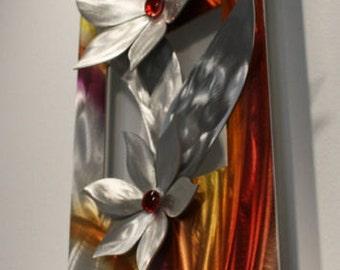 Wilmos Kovacs - Metal Wall Art Flower Metal Painting Sculpture, Home Decor, Original Art - W437