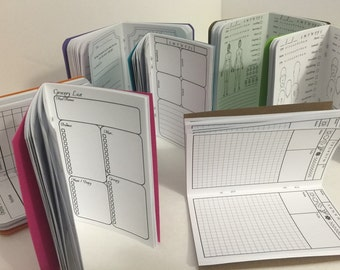 MICRO / A7 inserts; health journals, graph, planners and more
