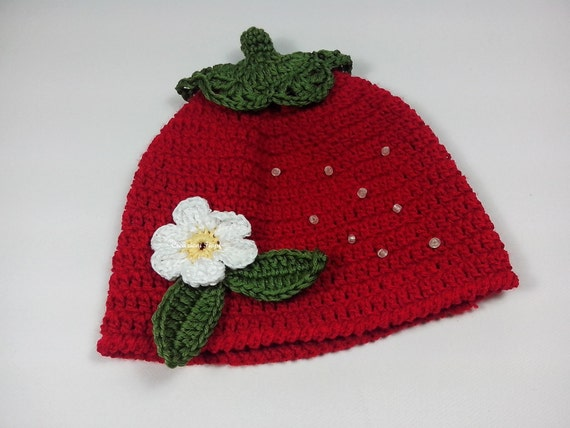 Crochet Pattern Crochet Hat Baby Pattern Hat Pattern Strawberry