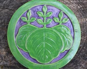 Earthy Japanese Pottery Trivet