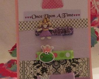Once Upon A Time - Lavender PRINCESS HAIR CLIP Set