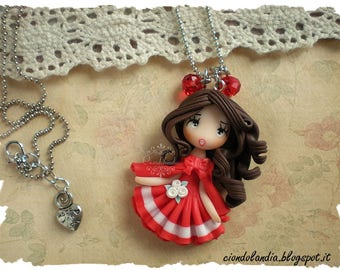Princess doll necklace (Polymer clay)