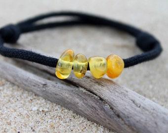 Baltic Amber For Men Friendship Bracelet Honey Yellow Men Jewelry FossilSummer Fashion Adjustable Birthday Gift for Boy Dad Friend