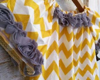 Boho Mustard Chevron Dress | Washed Cotton Chevron Dress | Photo Shoot Dress | Ellie Ann and Lucy