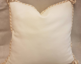 1 Pair Handmade Leather Cushion