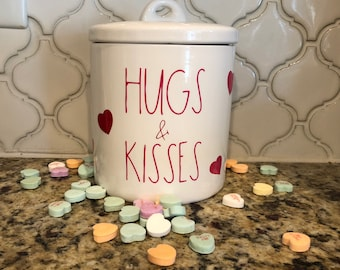 Valentine decals, kitchen labels, pantry labels, jar labels, vinyl decals, heart decal, Valentine gift, canister labels, farmhouse labels