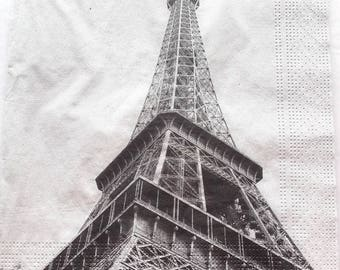 paper - EIFFEL Tower color gray No. 20 napkins 3272