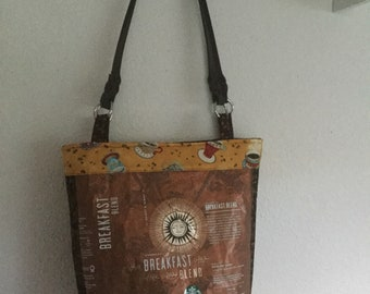 Starbuck Recycled Coffee Bag Purse