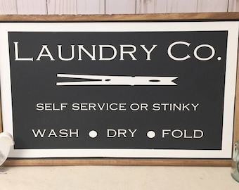 Laundry Room Sign, Rustic Sign, Rustic Wood Sign, Farmhouse Sign, Wooden Sign, Rustic Decor, Farmhouse Decor, Wall Decor, Wall Hangings,