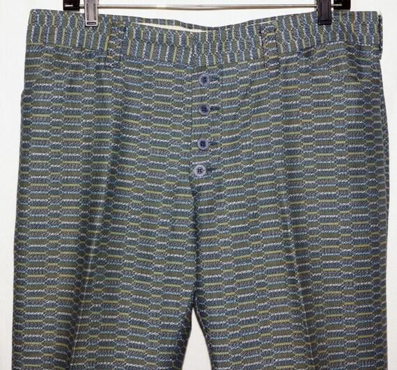 1970s Mens Bellbottom Pants 32x31 Vintage Hippie oUC41MSx
