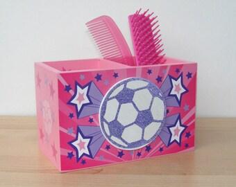 soccer for girls desk caddy