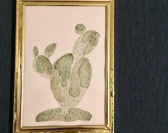 Watercolor Cactus Painting