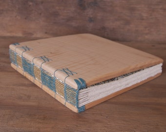 maple wood wedding guest book or journal- rustic cabin bohemian anniversary graduation sketchbook summer spring winter fall - made to order