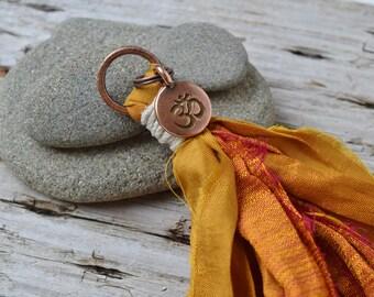 Ohm Mala Sari Silk Tassel, Universal Peace, Handmade Tassel, Jewelry Crafts, DIY