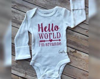 Personalized Newborn Onesie