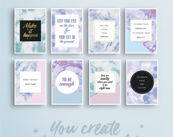 Vision Board Quote Cards | #2  • Quote Print. Vision Board Kit. Wall Art Quote. Affirmation Printable. Law of Attraction. Office Wall Decor