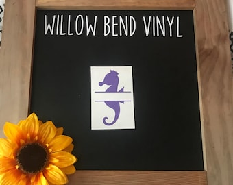 Personalized Seahorse Decal