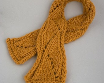 Biggy Lace Scarf Knitting Pattern - PDF