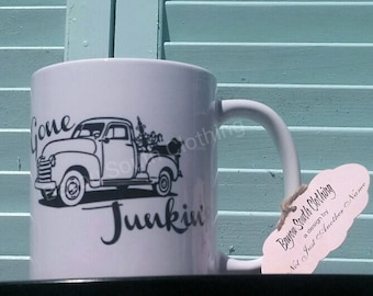 Gone Junkin' Mug, Gone Junkin' Tote Bag, Gone Junkin