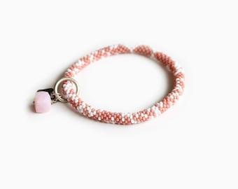 Bliss Pink Rose Quartz Roll on Bracelet