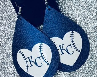 Kansas City Royals Leather Earrings
