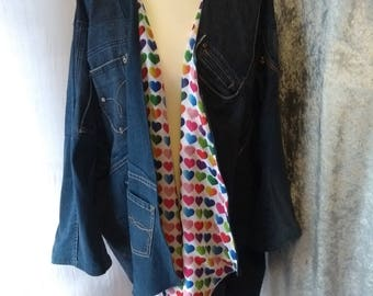 Denim Up-Cycled Swing Jacket