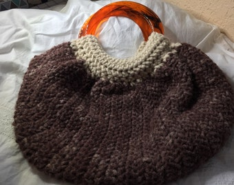 Wool Crocheted Fat Bottom Bag