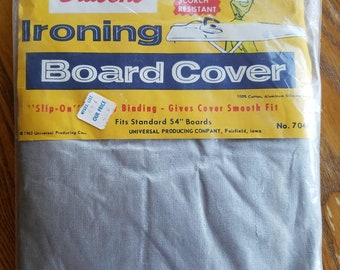 Vintage Ironing Board Cover, NIP, New in Package, Silicone, Great Label, By Universal