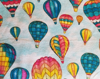 Hot Air Balloons Flannel Fabric Sold by the Yard