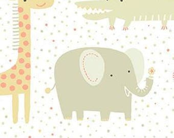 "Muslin-45""- Animal Print Elephant, Grey"