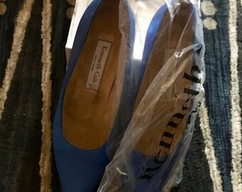 Vintage Kenneth Cole Royal Blue Size 7.5 Ladies Heels