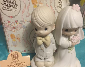 Precious moments Figurine-The Lord Bless You and Keep You