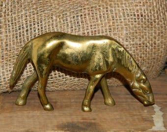 Brass Horse figurine, pony,horse statue Equestrian Decor horse decor