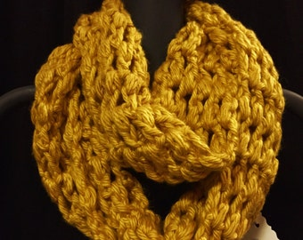 Crocheted Chunky Infinity Scarf