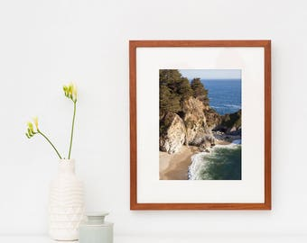 Framed Big Sur landscape photography - California fine art photo prints - Ready to hang wall art -  Nature travel decor - Framed coastal art