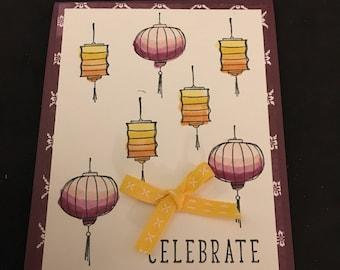 Handmade Stampin up Celebrate Card