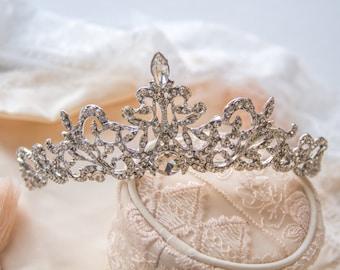 Cinderella Tiara, Bridal Tiara, Crystal Wedding Crown, Swarovski Crystal Bridal Tiara