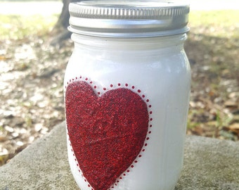 Love Specialty Jar, Jar decor, home decor, gift idea, painted Mason Jar, crafty gifts