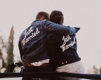 Wedding Couple Just Married Patch for Jacket